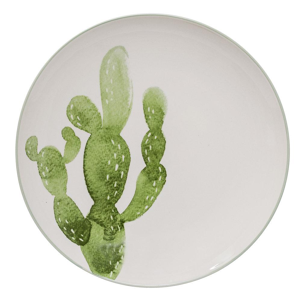 #002 Cactus Dinner Plate   25cm Hire Price - £4 Minimum Order 10 Current Stock Available 60