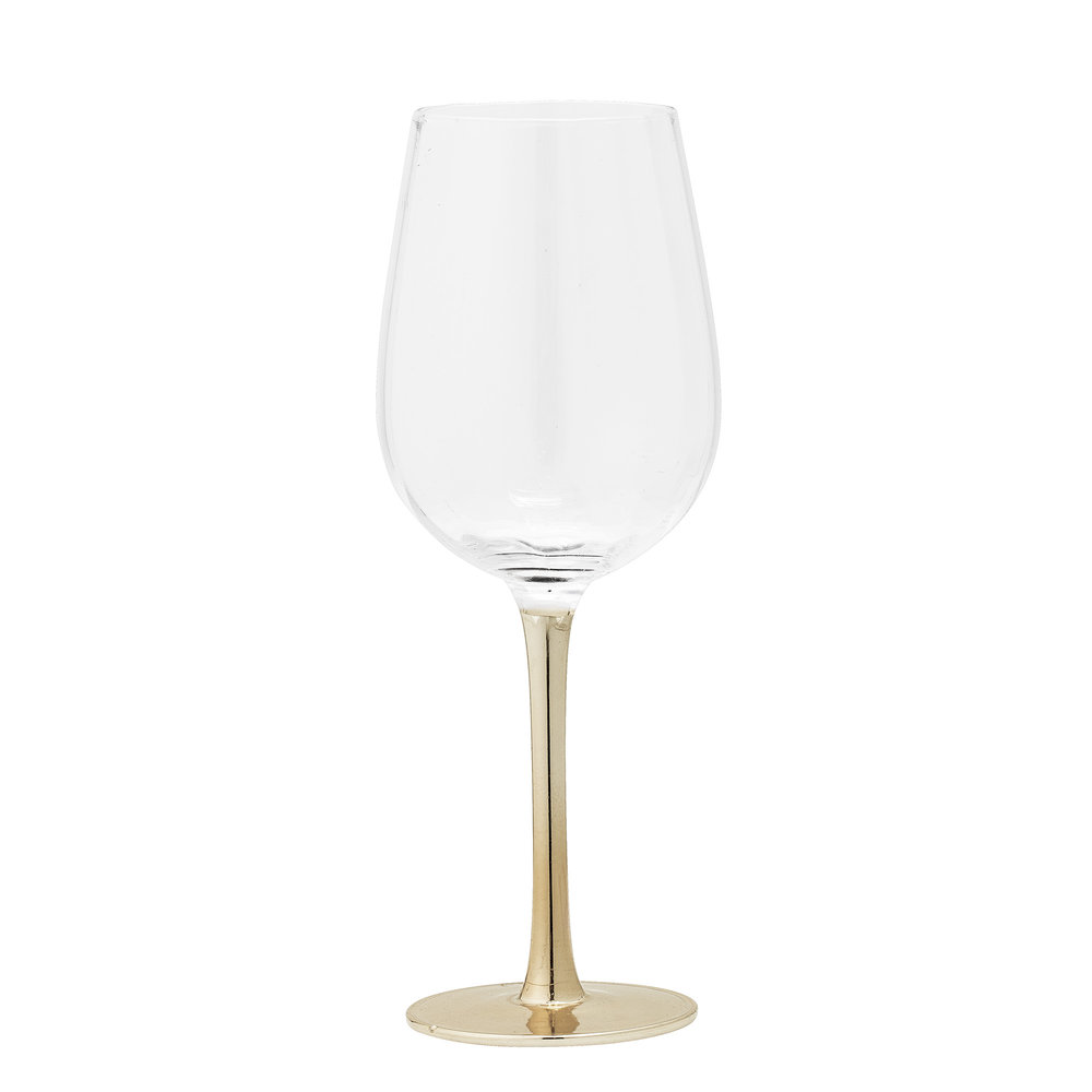 #026   Gold Stem Wine Glass   9cm x 22.5cm Hire Price - £2.30 Minimum Order 10 Current Stock Available 60