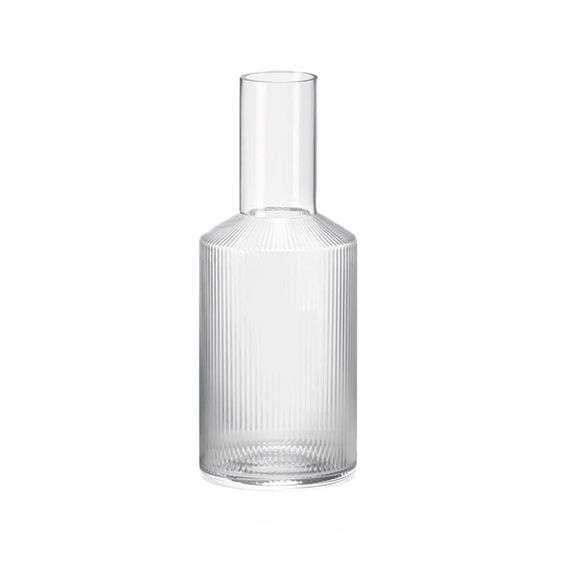 #027 Ripple Carafe   H34cm x W9cm Hire Price - £6.20 Minimum Order 5 Current Stock Available 12