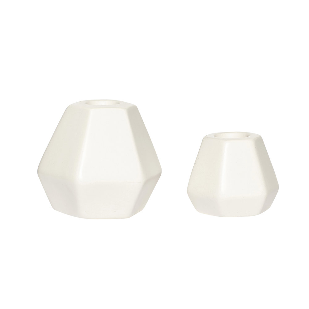 #039 White Marble Candle Stick Set    6cmxH5cm, 8cmxH8cm Hire Price - £2.50 Minimum Order 10 per set Current Stock Available 36 per set