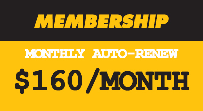 MONTHLY AUTO-PAY UNLIMITED CLASSES  (4 MONTH COMMITMENT)  •Unlimited Classes  • Live heart rate tracking •Auto-Renew Membership •Set your own start date •Free Class cards to give to friends •Can be put on hold if you're away