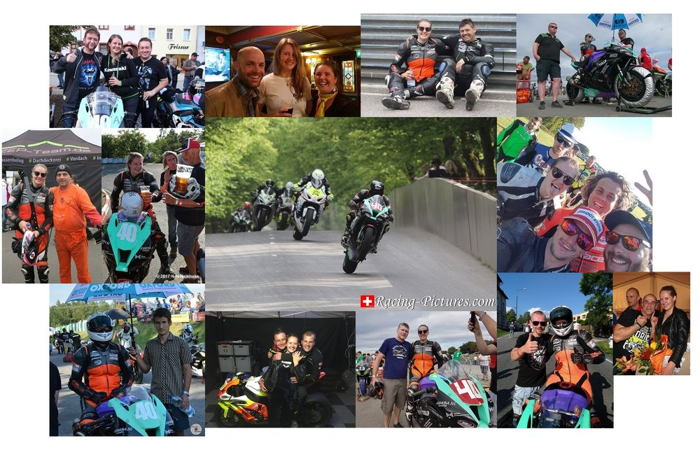 Just a small part of my road racing family.