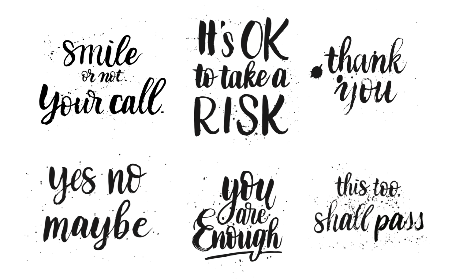 6 Brush Lettering Phrases For Your Frames