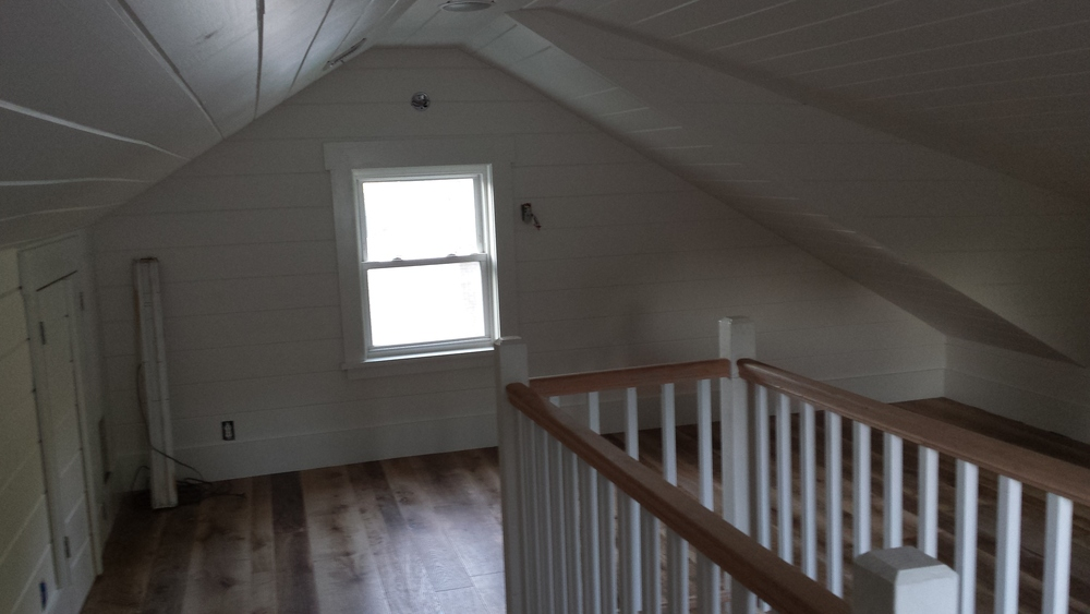 Now think about the feel of this room if it was simply drywall!