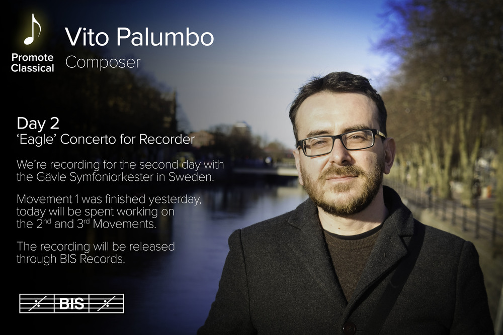 Information Graphic posted about Vito's Recording