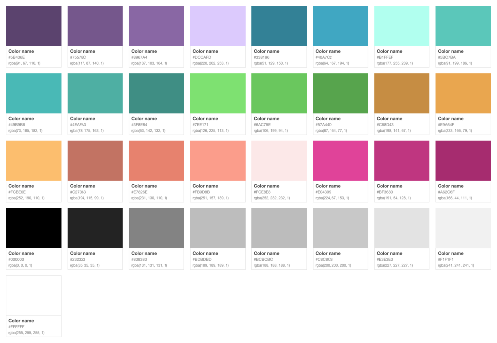 new flat color pallette
