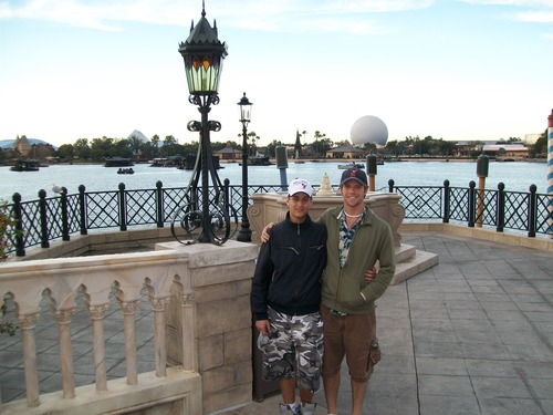 Fabrizio and me in Epcot when we went in 2011.