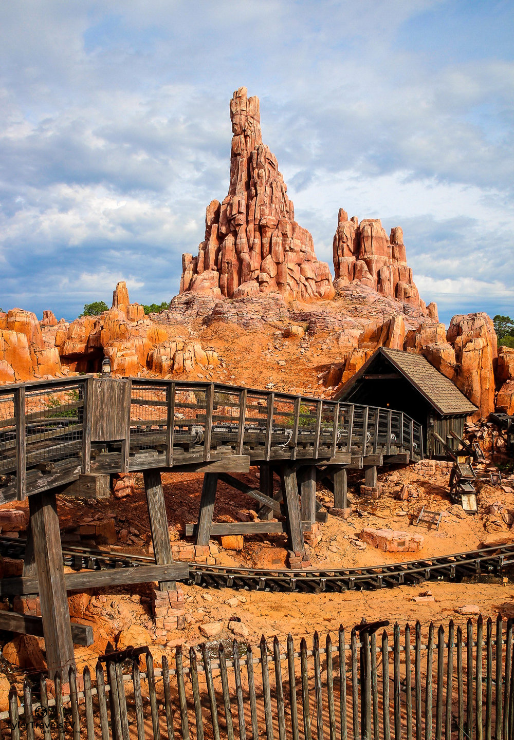 The third ride that we LOVE and will wait in a queue line for every trip is Big Thunder Mountain Railroad.