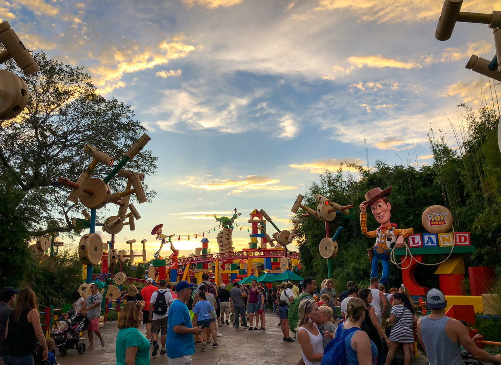 (Walt) knew that progress was the true hallmark of his work and in order to keep the magic alive, the parks would always be in a state of change. Above, Walt Disney World's new Toy Story Land.