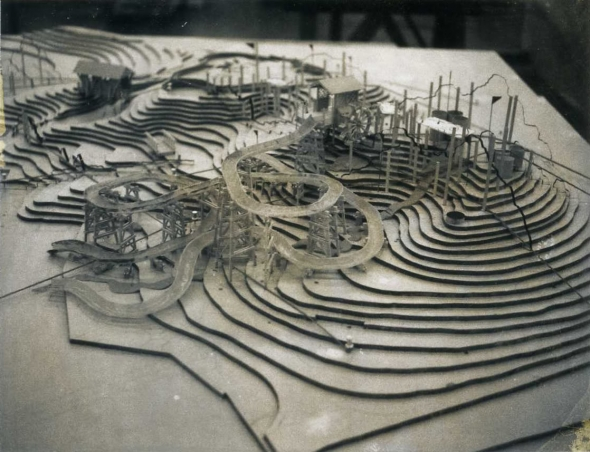 Model used by Disney Imagineering to realize the concept of River Country, then known as Pop Willow's Grove. (Photo: Pat Burke via themeparktourist.com)