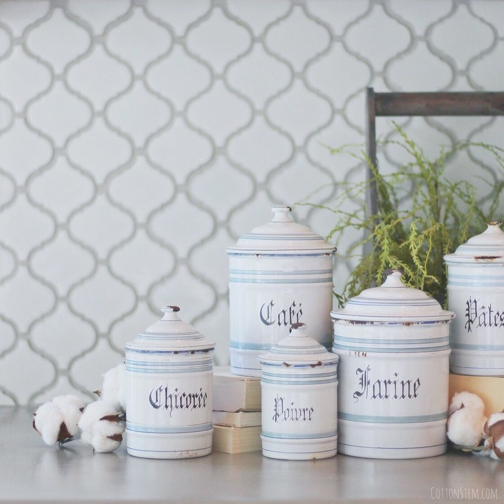 French Canisters Kitchen Special Projects Cotton Stem Interiors