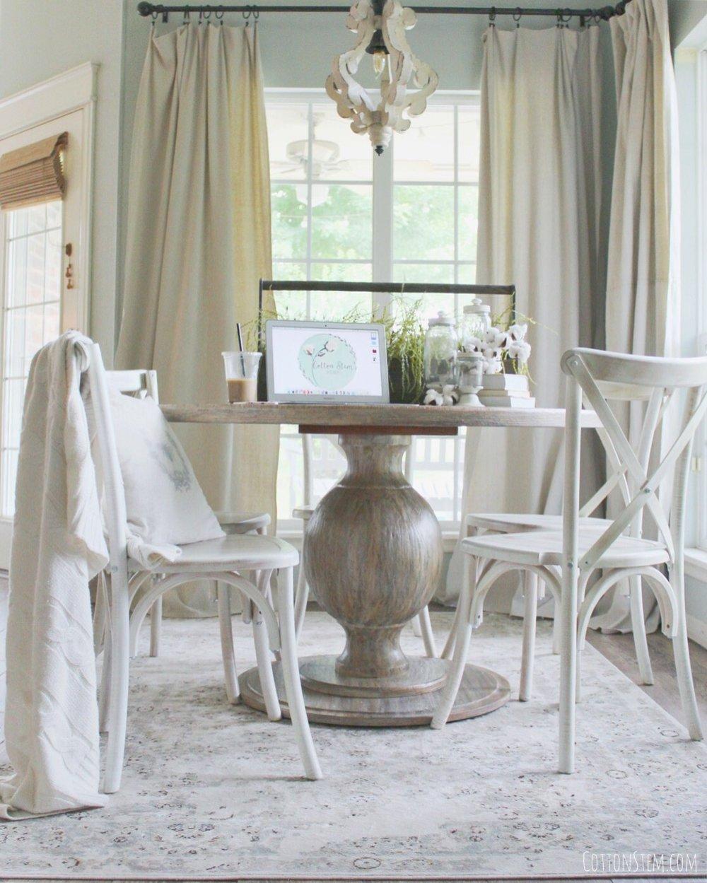 Cotton Stem Blog breakfast nook farmhouse table