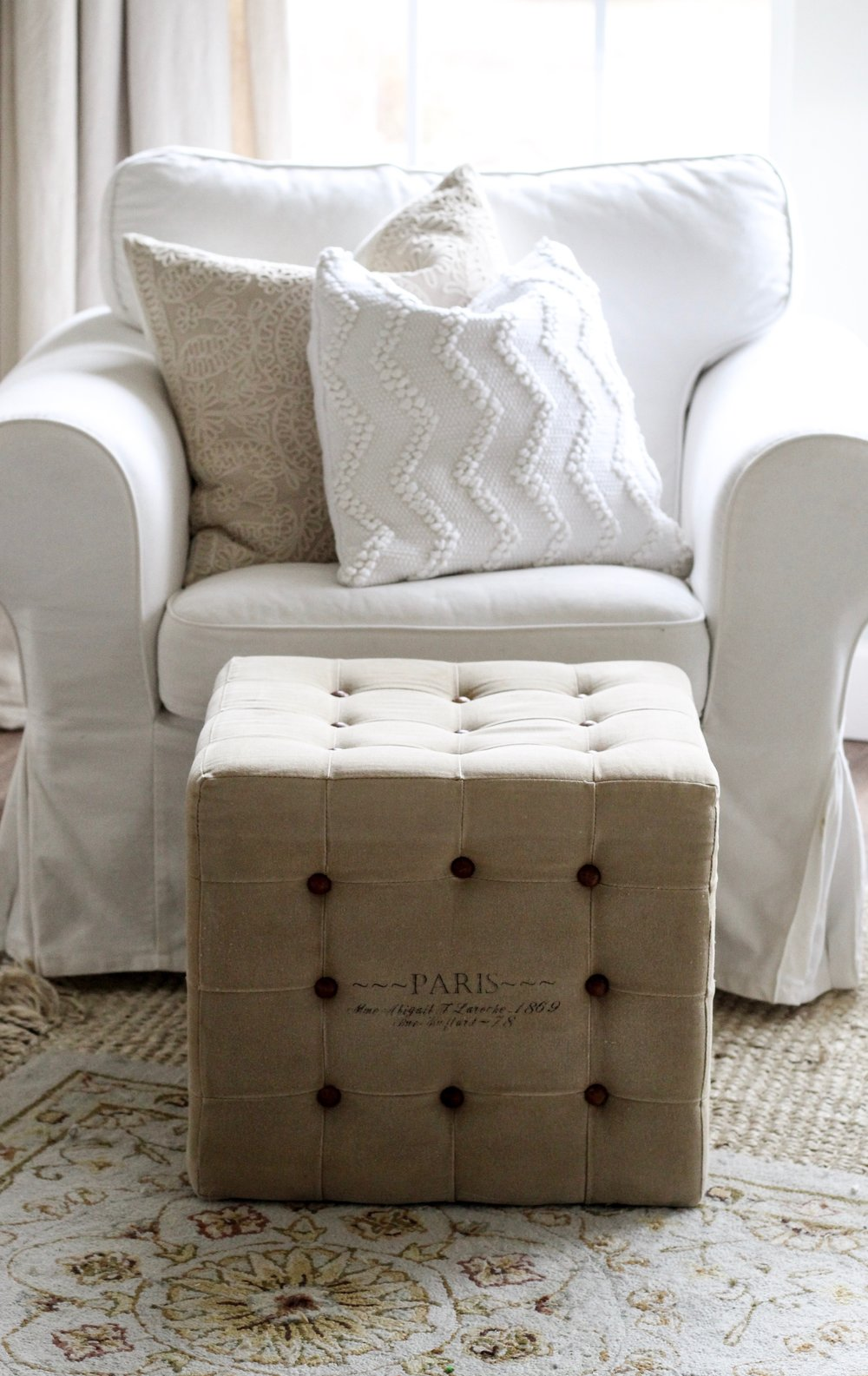 Cotton Stem Blog white chair farmhouse decor