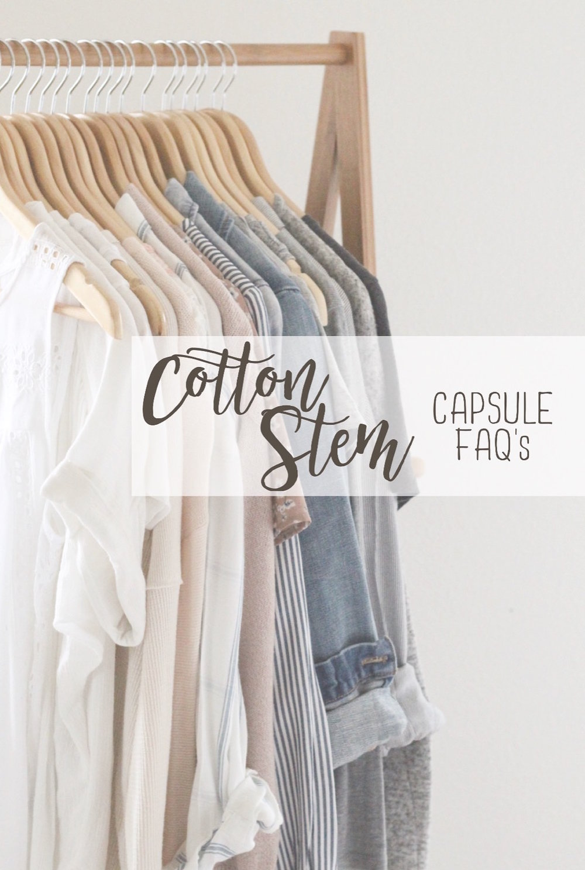 Cotton Stem Blog capsule wardrobe FAQs
