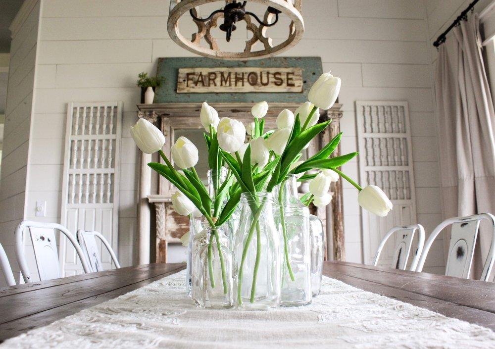CottonStem.com blog farmhouse dining room tulips centerpiece.jpg
