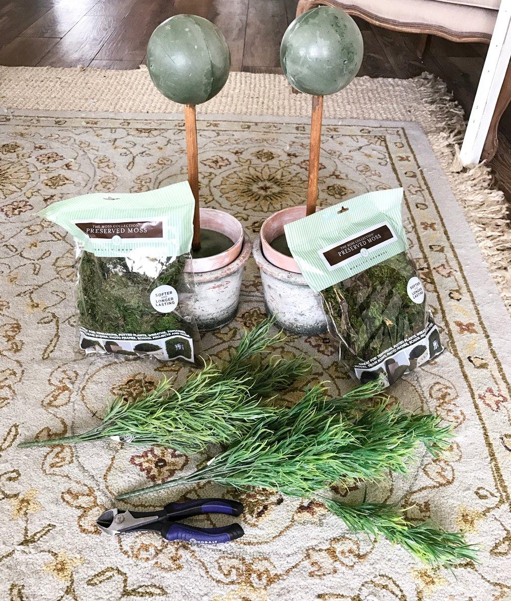 Faux Topiary Diy Cotton Stem