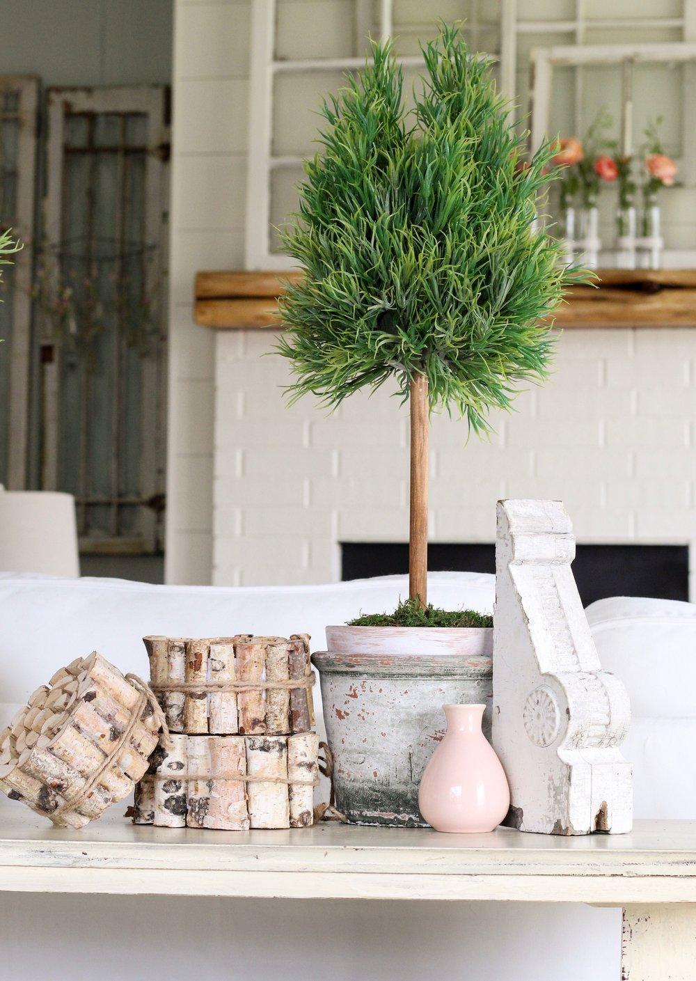 Faux Topiary Diy Cotton Stem