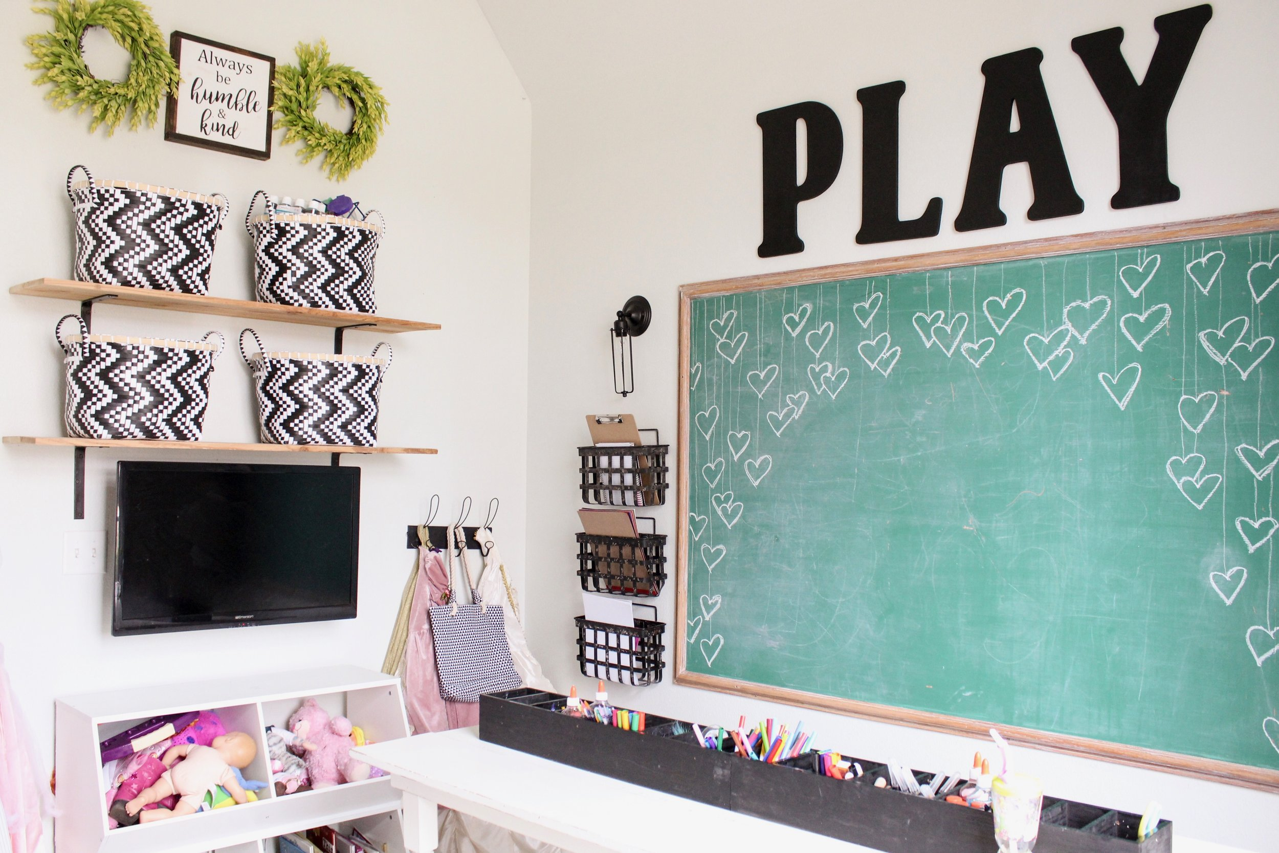 Modern Farmhouse Playroom Cotton Stem