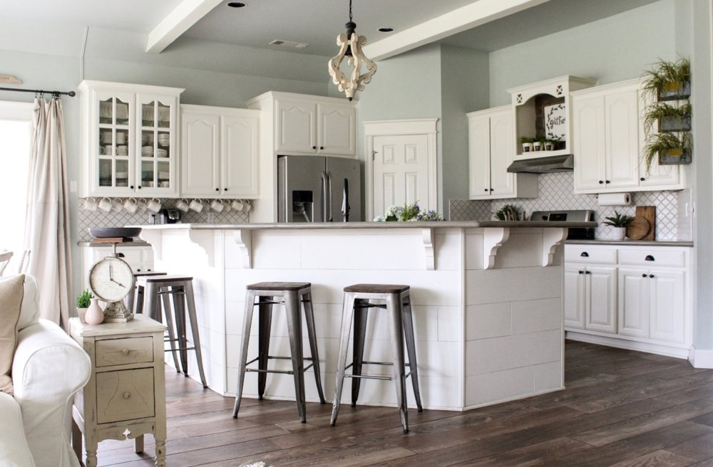 how to pick foolproof farmhouse paint colors cotton stem  sherwin williams alabaster throughout white kitchen cabinets cabinet sw alabaster kitchen cabinets   www redglobalmx org  rh   redglobalmx org