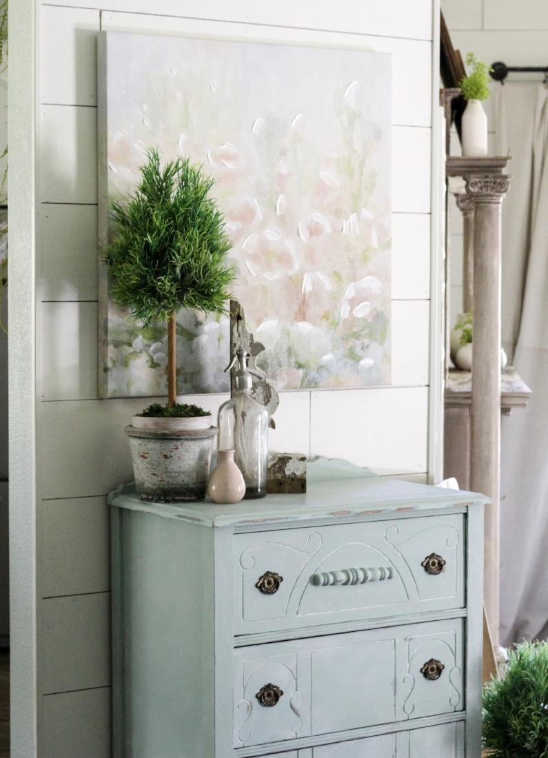 CottonStem.com chalk paint credenza amy howard blue green farmhouse