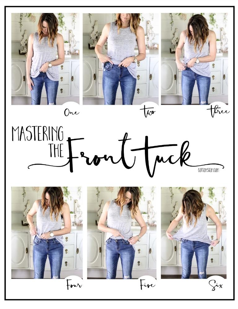 CottonStem.com how to front tuck shirt