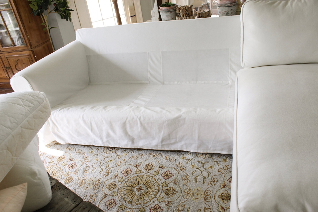 How The Heck I Maintain White Furniture With Four Kids A Review Of Ikea S Slipcovered Ektorp