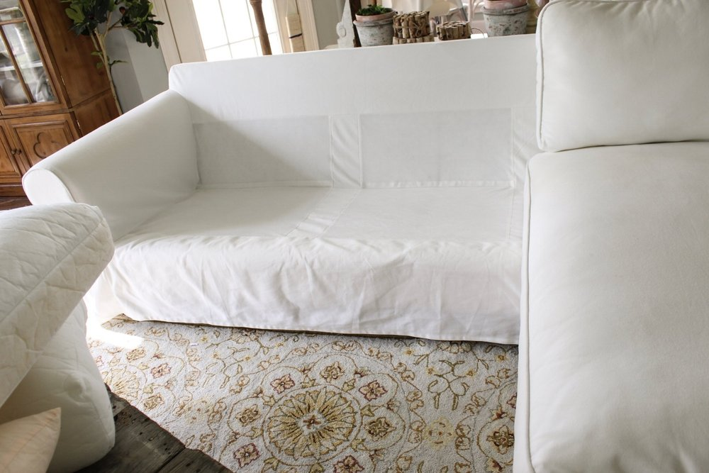 Our least favorite part about slipcovered furniture was the ironing after drying\u2026.LOATHED IT. It took forever!! But! Then I read somewhere online (and if ... & How the Heck I Maintain White Furniture with Four Kids (A Review ... pillowsntoast.com