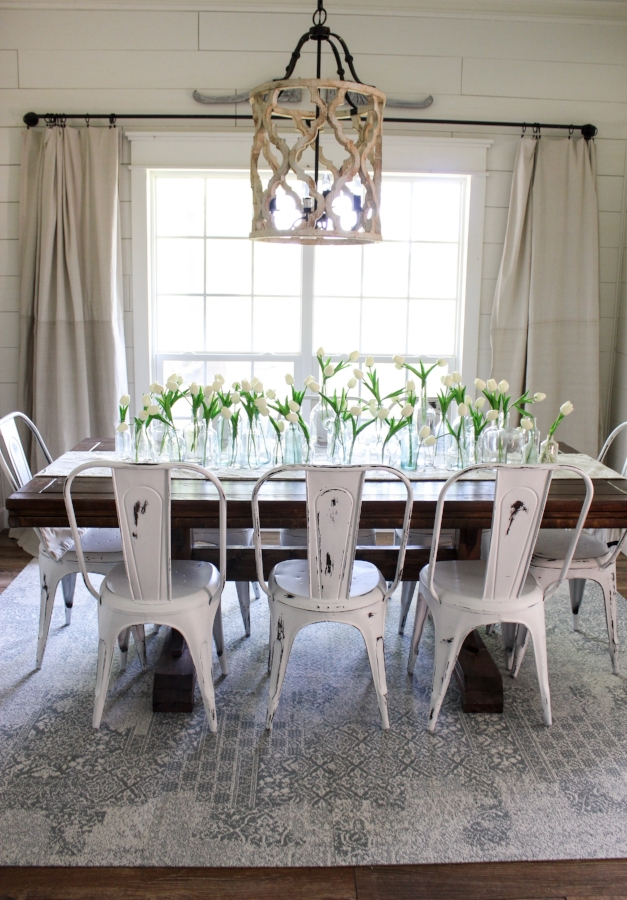 CottonStem.com Flor Carpet Squares Review Farmhouse Dining Room
