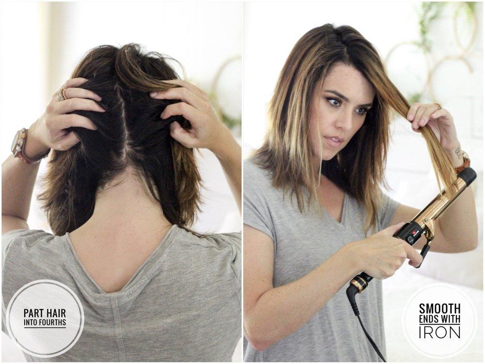 CottonStem.com easy hair tutorial for medium length