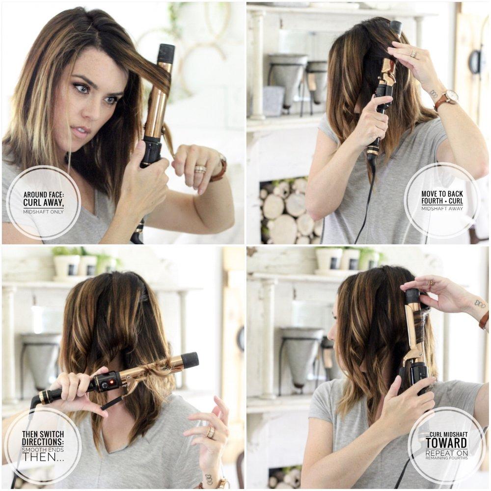 CottonStem.com lob haircut tutorial easy