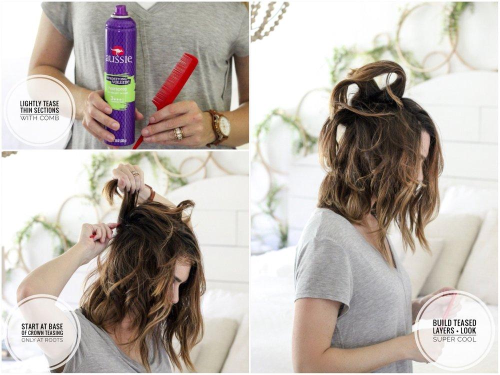 CottonStem.com easy hair tutorial for lob style
