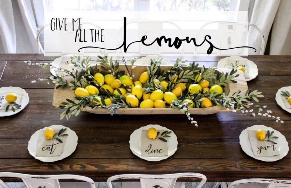 CottonStem.com give me all the lemons farmhouse table decor