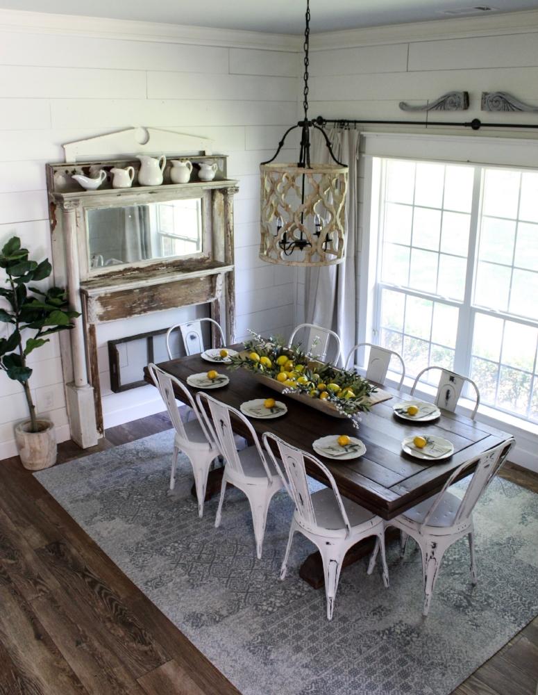 CottonStem.com summer lemon decor farmhouse table dining room