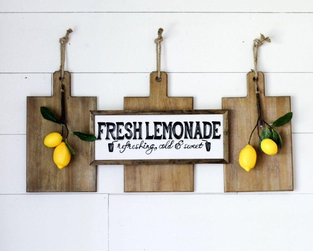 CottonStem.com fresh lemonade summer decor farmhouse sign