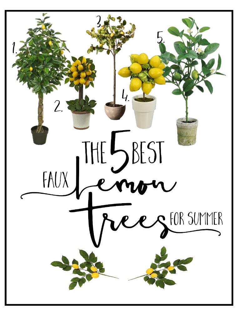 CottonStem.com best faux lemon trees summer decor