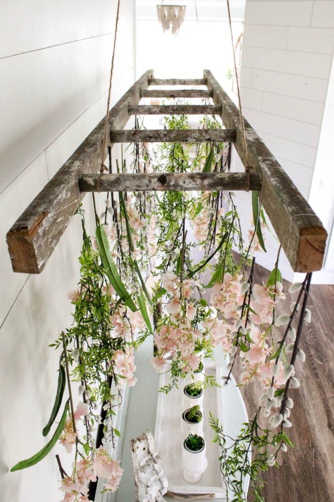 Hanging Flowers and Plants with Vintage Ladder Tutorial ...