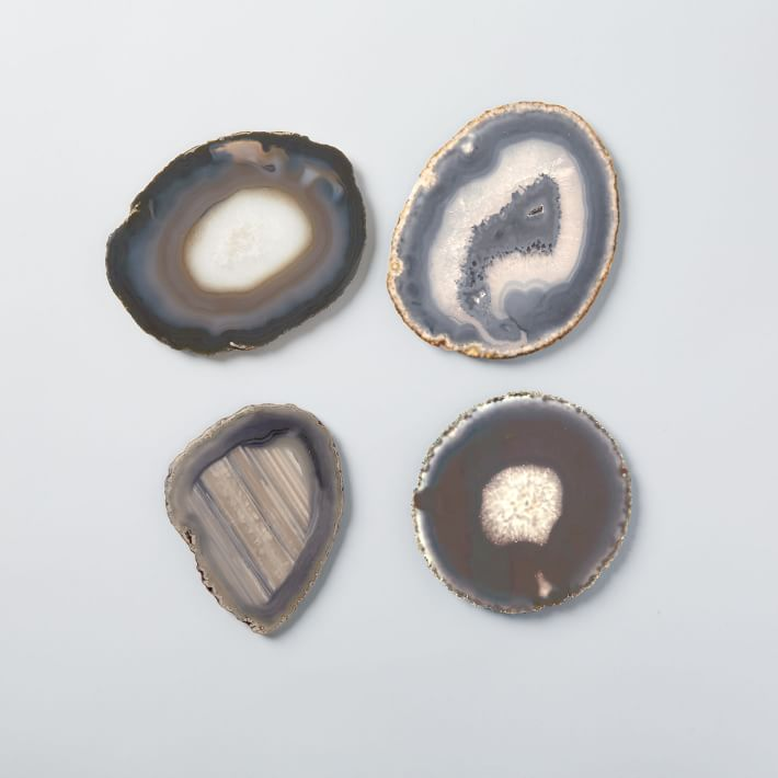 Agate Coasters (Set of 4), WEST ELM, $69