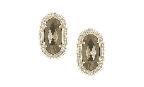 Elain Stud Earrings in pyrite, KENdra scott, $70