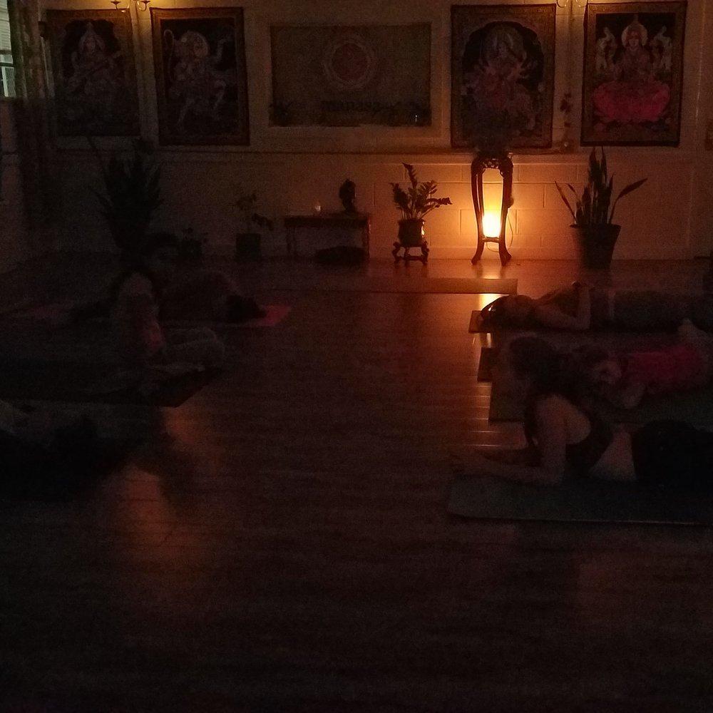 Manasa Yoga Studio Inside Night Class