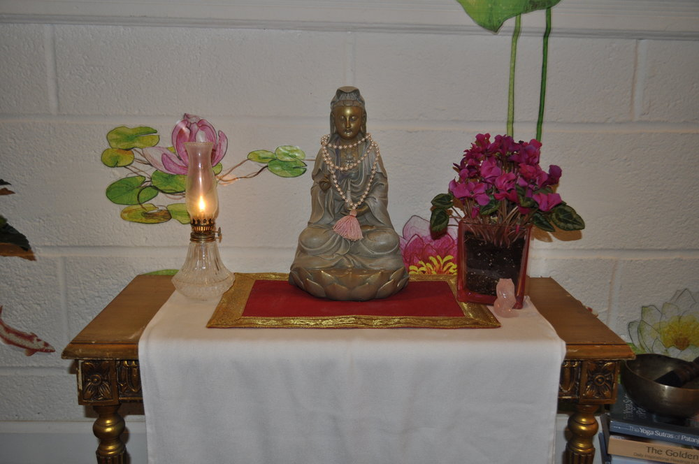Manasa Yoga and Ayurveda Studio Kuan Yin Statue