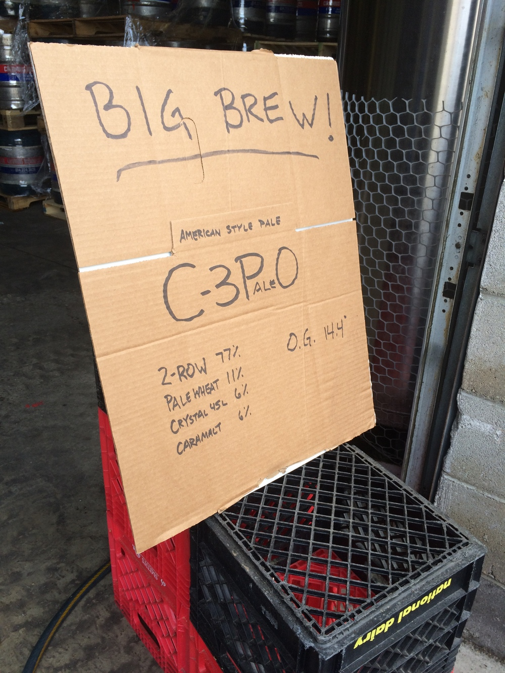 The specs for CBC's pale ale wort