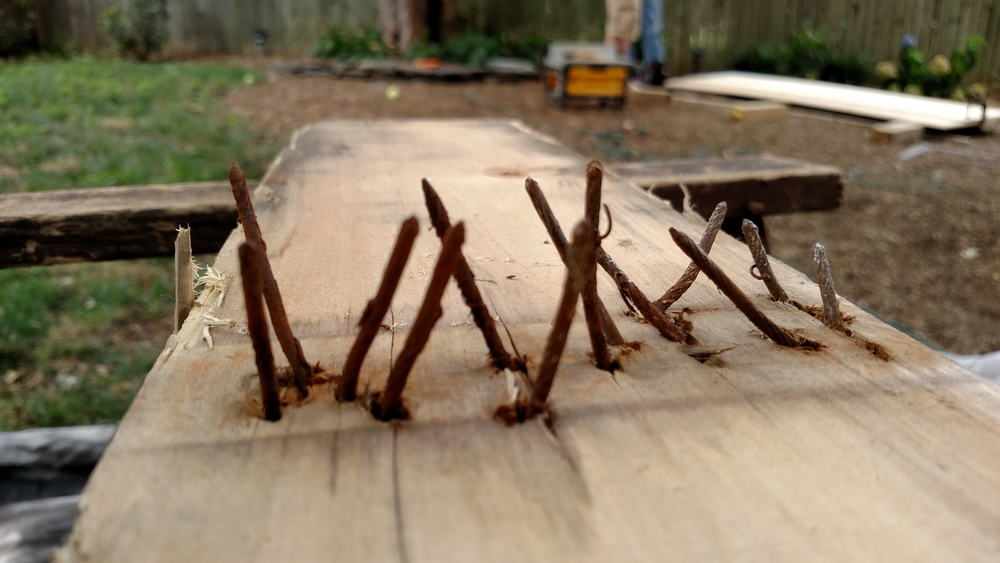 Oh yeah, some of the pallet pieces had this many nails in them...