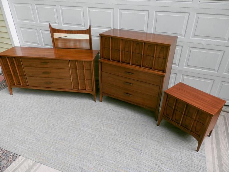 Kent Coffey Bedroom Set Mid Century Modern Furniture - Kent coffey bedroom furniture