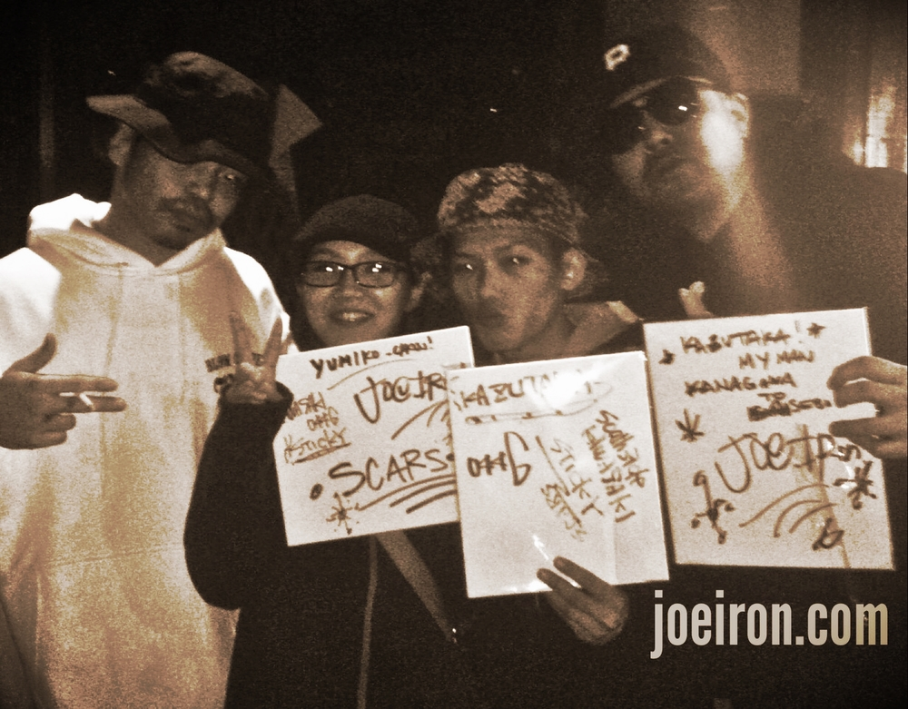 STICKY (SCARS) & JOE IRON with Okinawa Fans