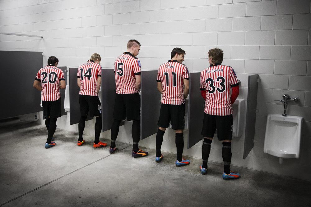 Malmö FF gör sig klara för bortamatch.Florida, USA.