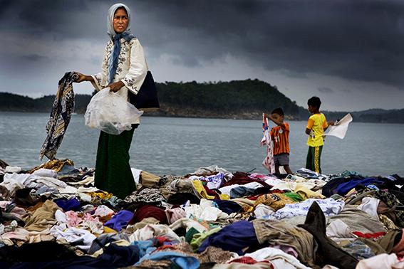 Tsunamikatastrofen. Banda Aceh,Indonesien