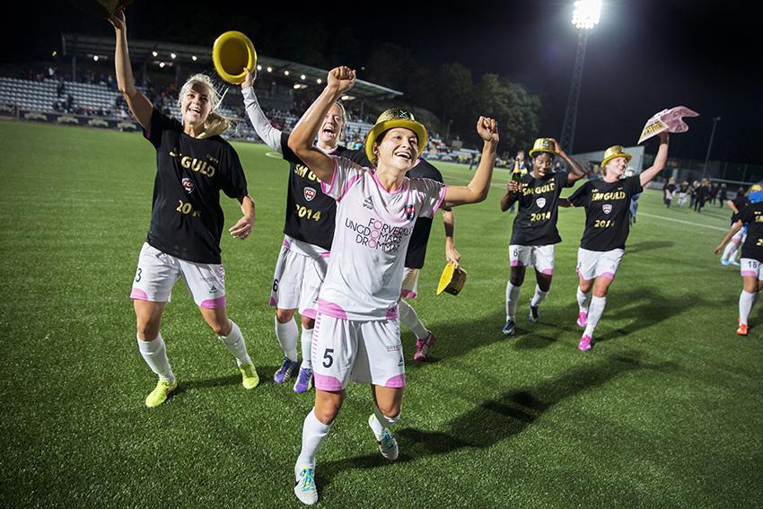 SM-guld i fotboll. Göteborg