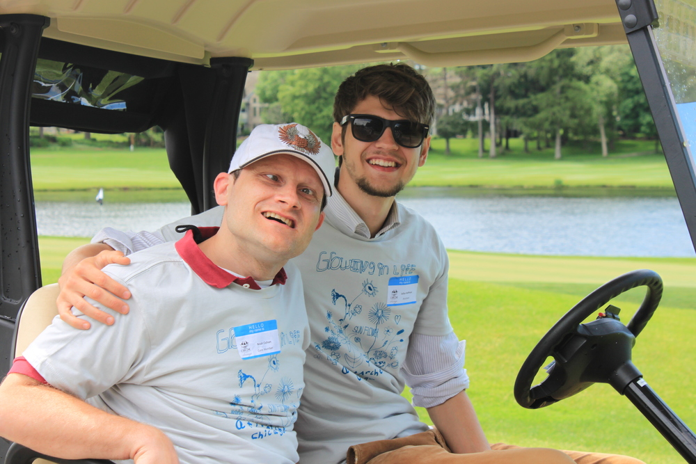 Noah and Julius enjoying the 2014 Golf Classic