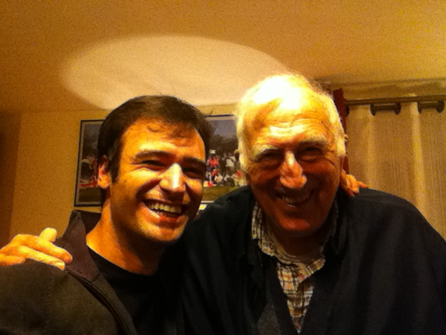Luca and Jean Vanier in Trosly-Breuil at the time of the Identity and Mission international formation