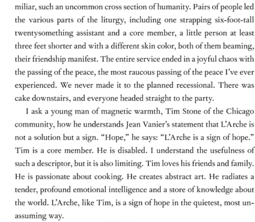 Here is the page where Tim and L'Arche are featured!